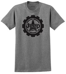 Jeep Big Cog Mens T-Shirt in Grey