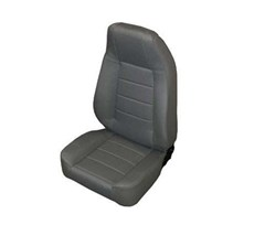 Front Seat Standard Bucket, Jeep CJ, Wrangler- Vinyl Black