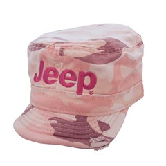 Jeep Logo Embroidered Cadet Hat in Pink Camo