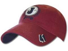 Jeep Cap - J-41 Hat - Red