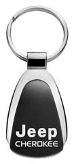 Jeep Cherokee Keychain & Keyring - Black Teardrop