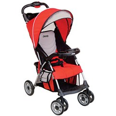 Jeep Cherokee Sport Baby Stroller- React Red