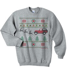 Jeep Christmas Crewneck Sweatshirt, Gray