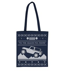 2015 Christmas Sweater Print Tote, Navy