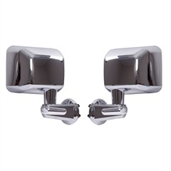 Mirror Set for Jeep Wrangler JK 2007-2016 in Chrome by Rugged Ridge