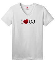 I LOVE CJ  Women's V-Neck T-Shirt