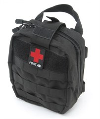 First Aid Kit Bag for CJ & Wrangler 1955-2016 in Black by Smittybilt