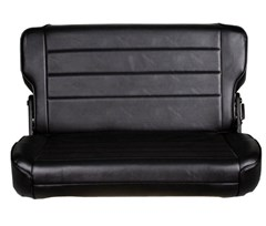 Rear Seat Fold & Tumble for Jeep CJ, Wrangler YJ - Vinyl Black