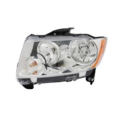 Left Headlight Assembly for Jeep Compass 2011-2015 by Omix-Ada
