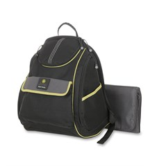 Jeep Diaper Bag Back Pack, Black/Lime Green