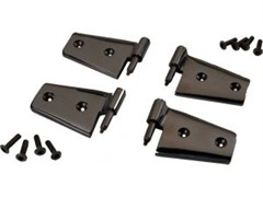 Door Hinges for Wrangler JK 2007-2016 Black by Rampage