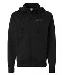 Jeep Embroidered Convertible Full Zip Polytech Jacket, Black