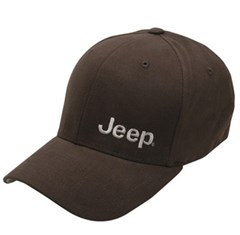 Jeep Embroidered Flexfit Hat, Brown