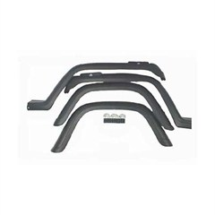4 Piece Fender Flare Kit for Jeep Wrangler YJ (1987-1995)- Black