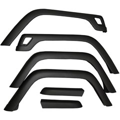 Black 6 Piece Fender Flare Kit for Jeep Wrangler TJ (1997-2006)