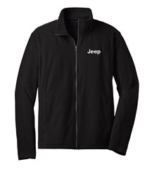 Jeep Embroidered Fleece Full Zip Jacket, Black