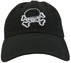 Jeep Skull & Crossbones Cap - Black