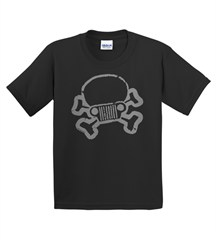 JPFreek Youth Skull & Crossbones SHORT Sleeve Unisex Tee