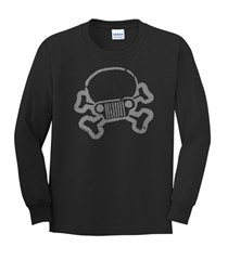 JPFreek Skull and Crossbones Logo Youth Long Sleeve Shirt