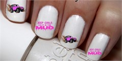 Jeep Girls Do It In The Mud Nail Decals