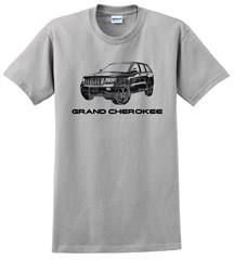 Grand Cherokee Ghost Image Men's T-Shirt, Ice Gray