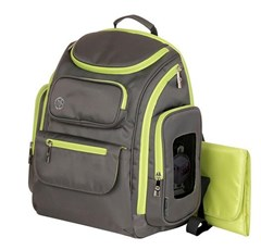 Jeep Poly Twill Back Pack Diaper Bag, Gray/Green