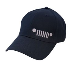 Jeep Grille Logo Embroidered Hat in Navy