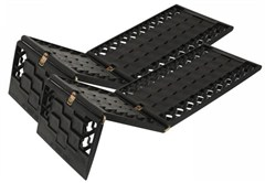 GripTrack Molded Plastic Vehicle Traction Plates (Pair) - Triple panel design - storage bag