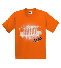 Jeep Grunge Grille Youth Tee in Orange