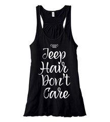 Jeep Hair Don't Care Flowy Tank in Black
