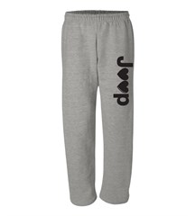 """J♥♥p"" Open-bottom Gray Sweatpants"