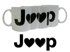 Jeep Hearts Coffee Mug