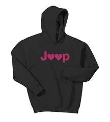 Jeep Hearts Adult Hooded Sweatshirt