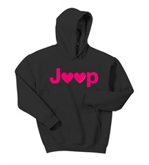 Jeep Hearts Youth Hooded Sweatshirt