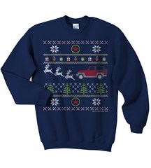 Jeep Christmas Crewneck Sweatshirt, Navy