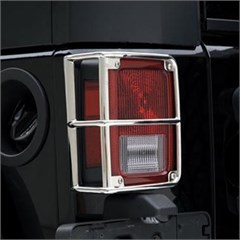 Euro Tail Light Guards for Jeep Wrangler JK in Stainless Steel