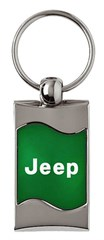 Jeep Keychain & Keyring - Green Wave