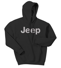 Jeep Light Gray Original Logo Hooded Sweatshirt