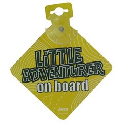 Jeep Little Adventurer On Board Car Sign