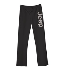 Light Gray Jeep Logo Women's Fit Sweatpants in Black