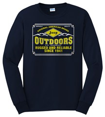 Jeep Long Sleeve Shirt in Navy - Jeep Outdoors...Rugged & Reliable
