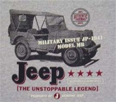 CLOSEOUT - Jeep® Military Issue T-Shirt (Grey)