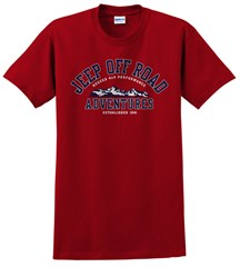 """Off-Road Adventures"" Vintage Red Short Sleeve Shirt"