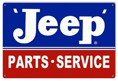 "Jeep Parts - Service Metal Garage Sign, 12""x18"""