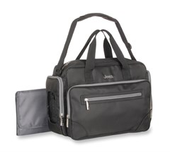 Jeep Perfect Pockets Duffle Diaper Bag, Black/Gray