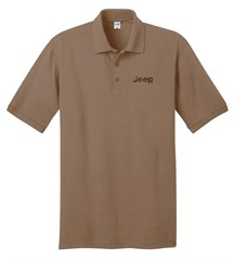 Jeep Embroidered Polo Shirt, Sand