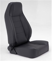 Front Seat, Replacement w/Recliner Jeep CJ & Wrangler Vinyl Black