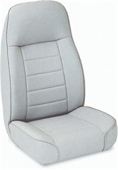 Front Seat, Replacement w/Recliner-Jeep CJ & Wrangler- Denim Gray