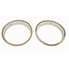Headlight Bezels, Jeep TJ (1997-2006), LJ (2004-2006), Chrome