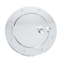 Gas Cap Door, Locking, Jeep TJ (1997-2006), LJ (2004-2006), Aluminum
